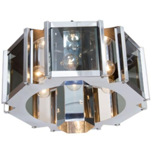 modernist hexagonal chandelier