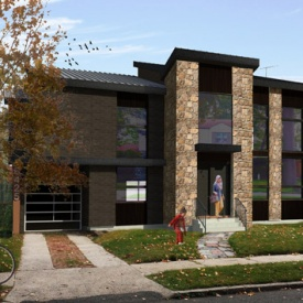MOD Brick & Stone Queens Residence